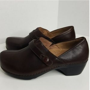 Dansko Brown Slip on Clog Shoes